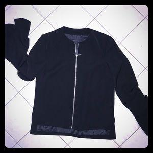 Zara Basic Black Jacket w/bell sleeve - Size S